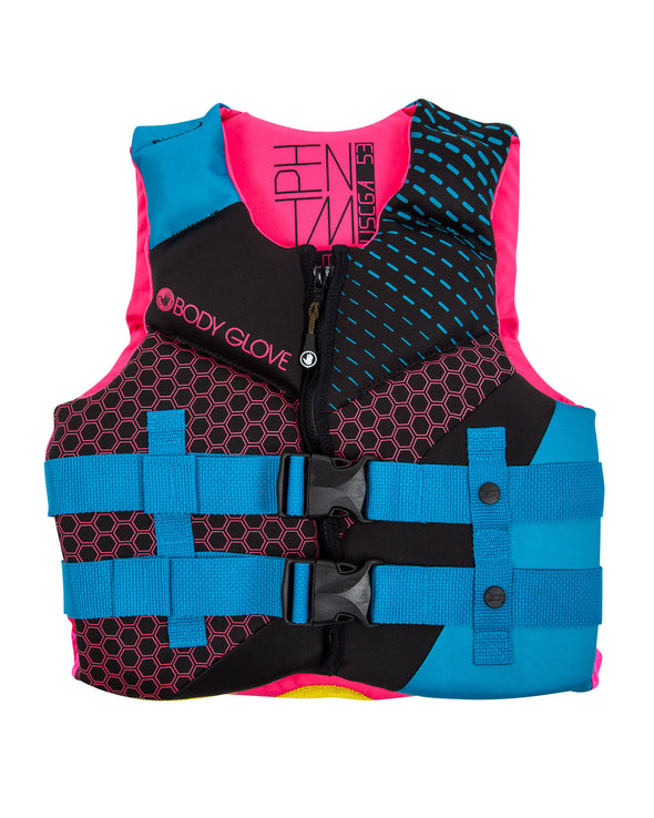 Phantom Youth USCGA PFD - Aqua/Pink