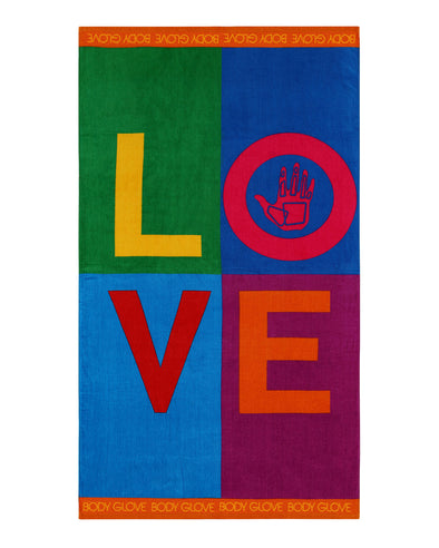 "36x70 ""Love"" Beach Towel - Multi"