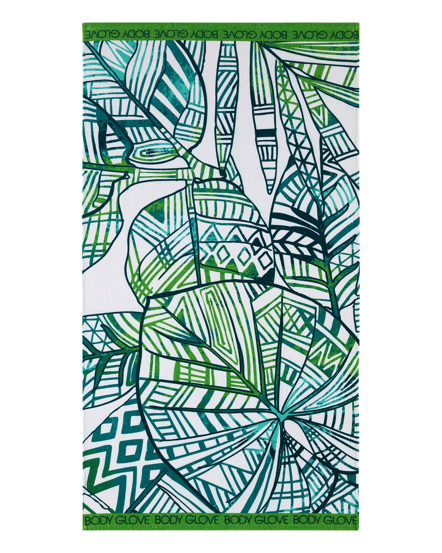 36x70 Paluma Print Beach Towel - Green