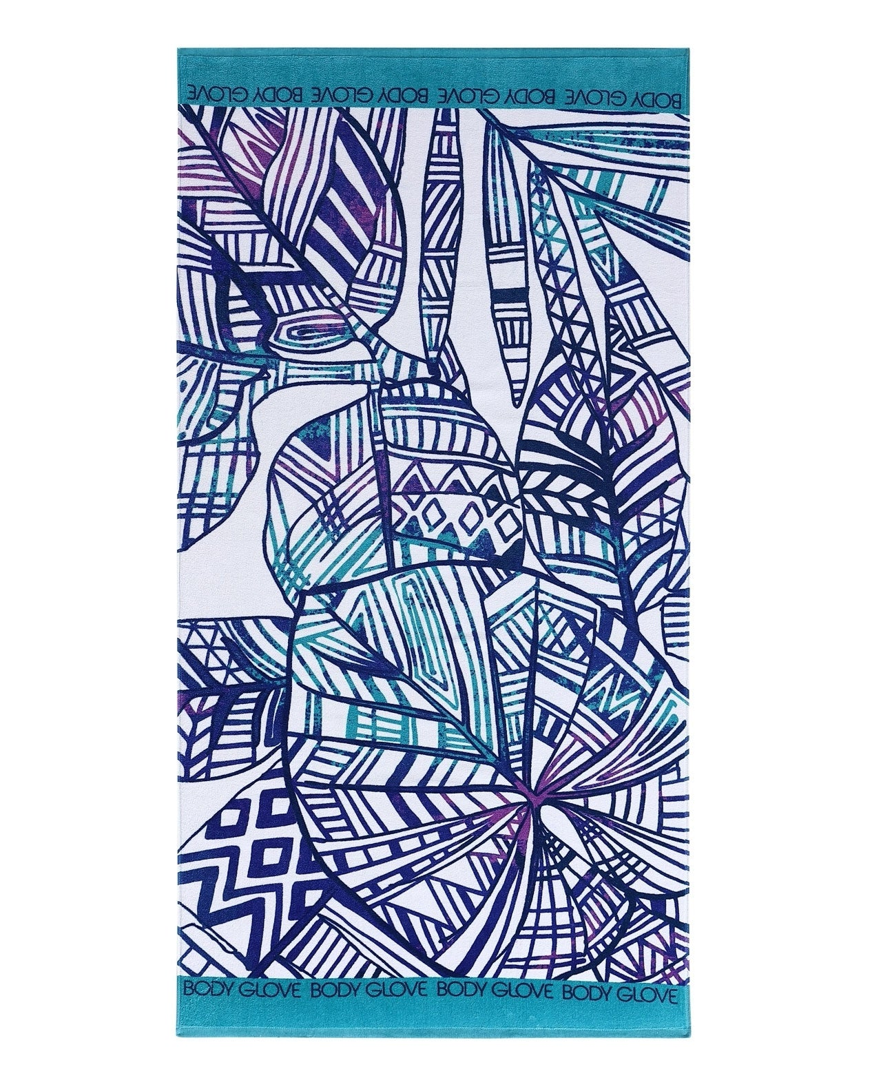 36x70 Paluma Print Beach Towel - Purple