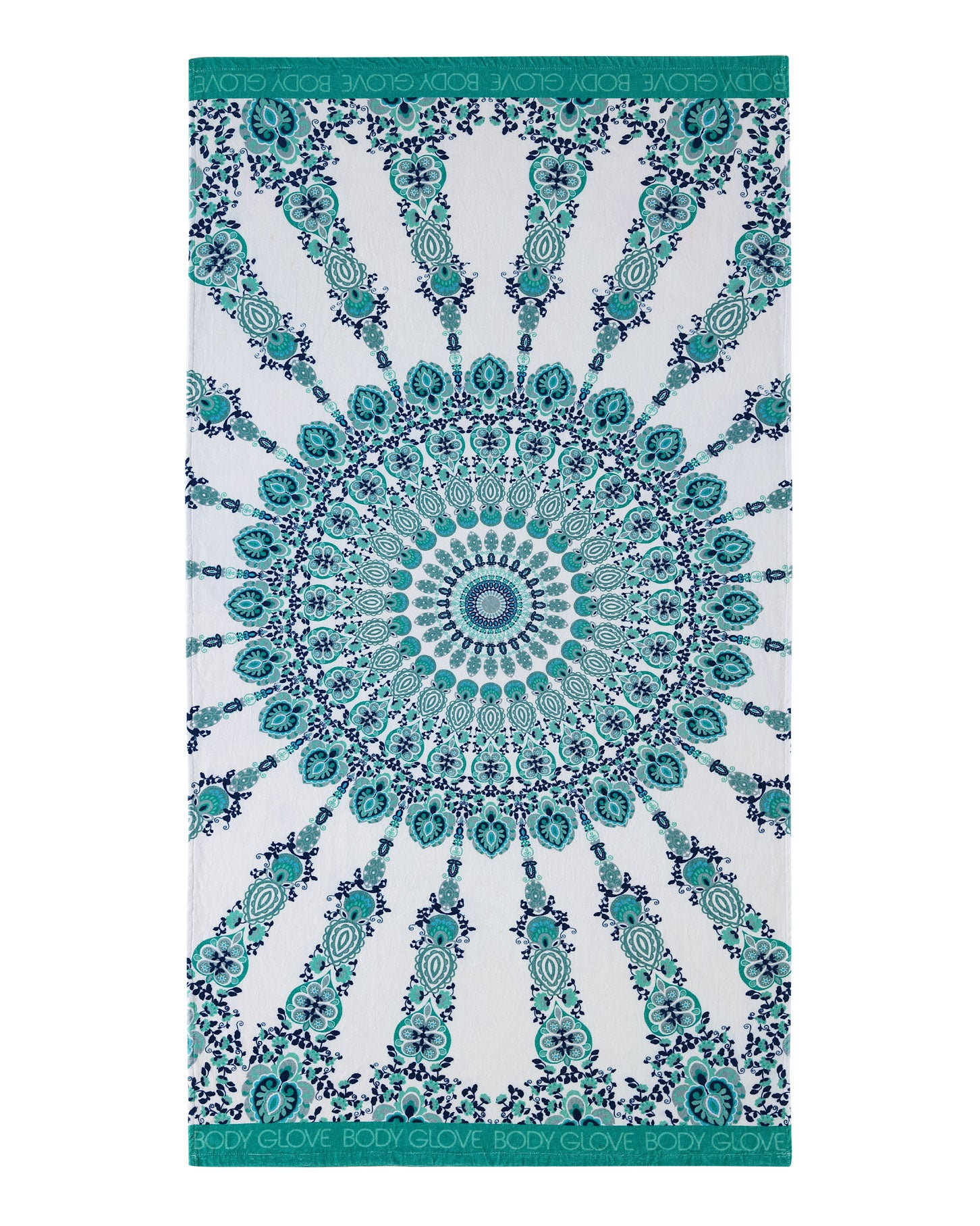 36x70 Medallion Print Beach Towel - Green