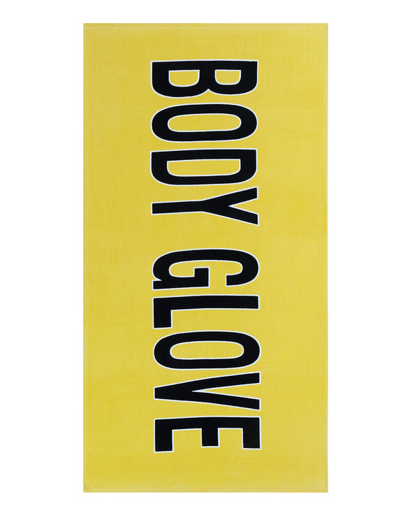 "36x70 ""Body Glove"" Beach Towel - Yellow"