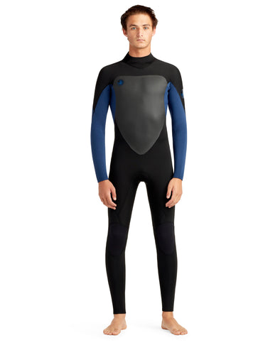 Phoenix 4/3mm Men's Back Zip Fullsuit - Blue