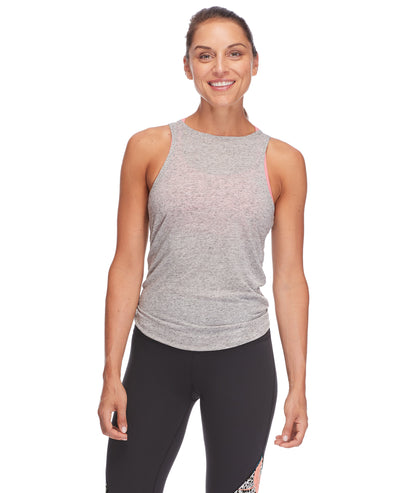 Calima High-Neck Tank Top - Light Grey Heather