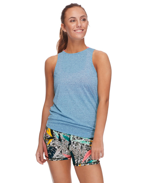 Calima High-Neck Tank Top - Oceanic