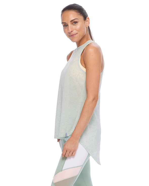 Calima High-Neck Tank Top - Pale Pine