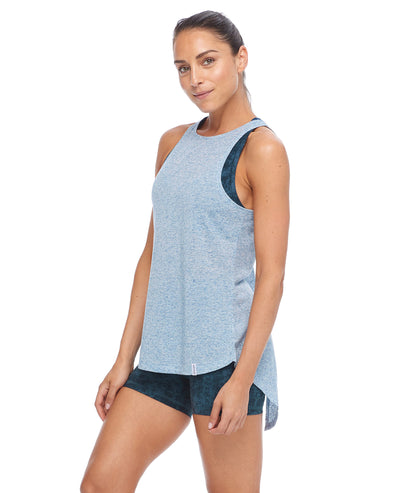 Calima High-Neck Tank Top - Full Moon