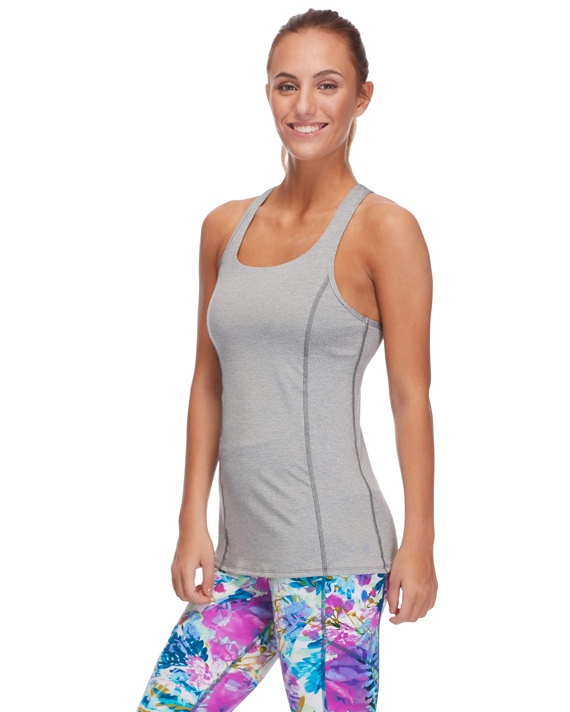 Buran Racerback Tank Top - Light Grey Heather
