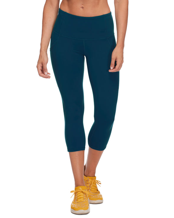 Work It Performance Capri Legging - Oceanic