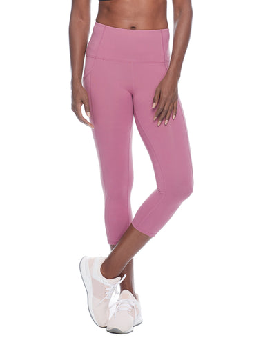 Work It Performance Capri Legging - Rosewood