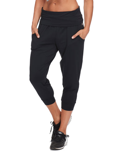 Jupiter Low-Rise Capri Jogger - Black