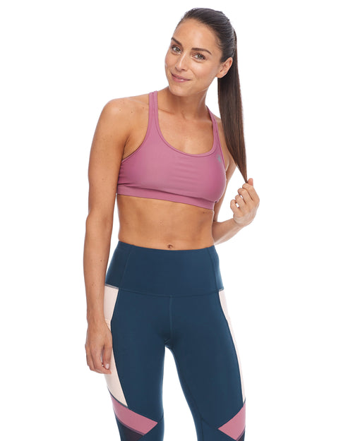Equalizer-X Medium-Support Sports Bra - Rosewood