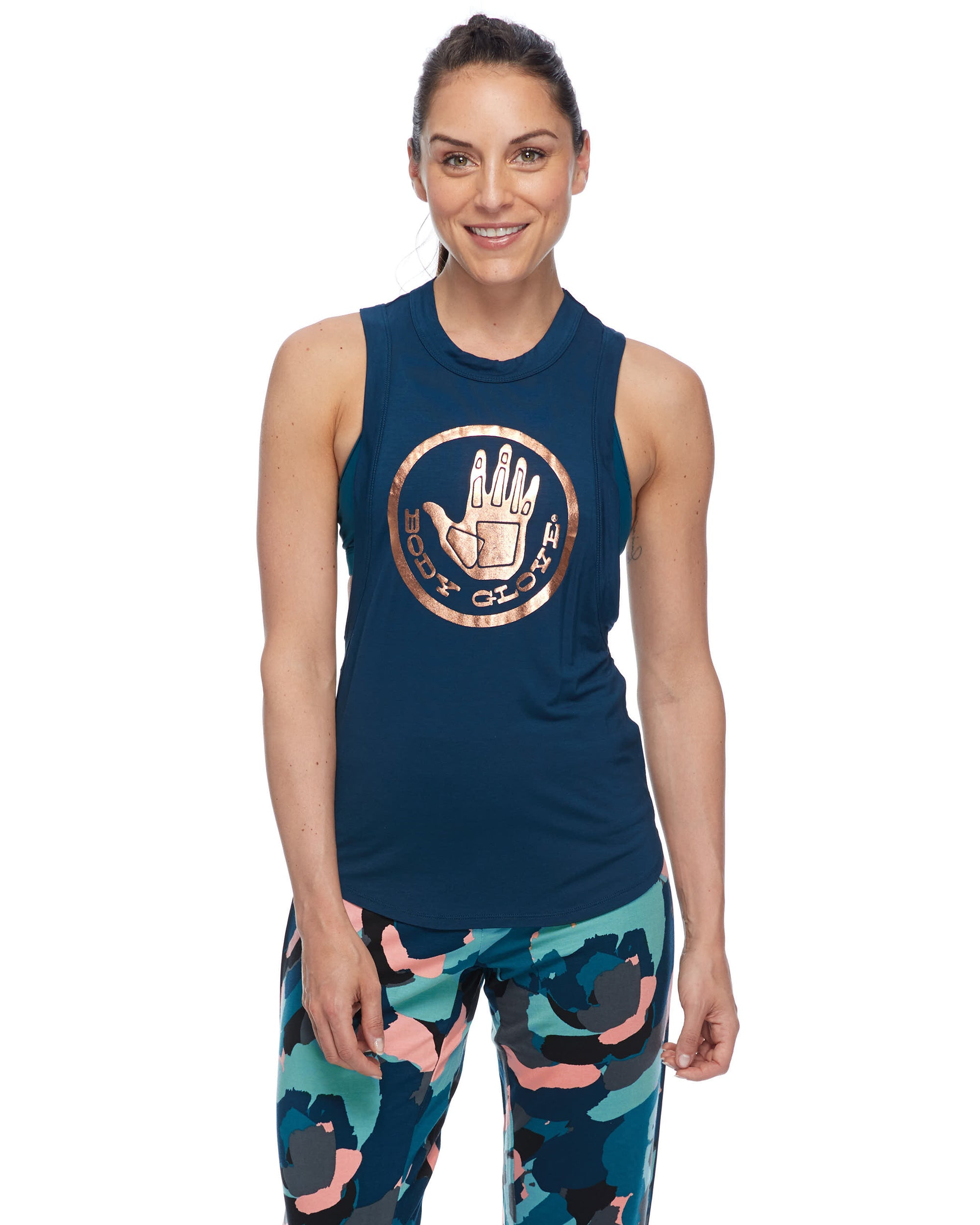 Booderee Nora Foil Logo Tank - Moonlight