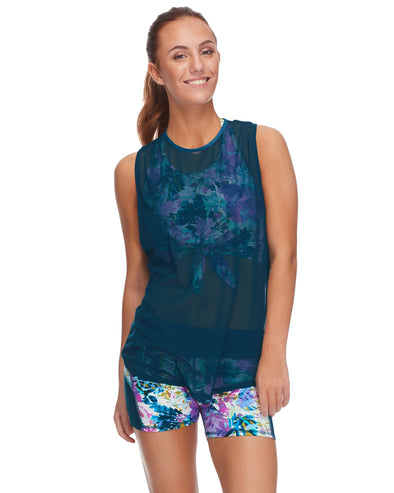Bayamo Relaxed-Fit Muscle Tank Top in Lacerta - Oceanic
