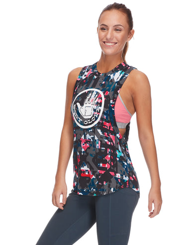 Nora Relaxed-Fit Muscle Tank in Balboa - Black