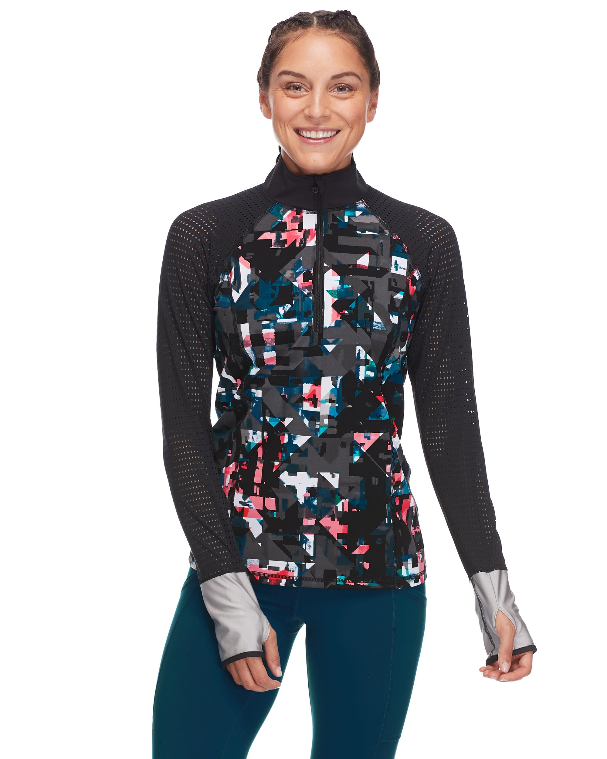 Bora Performance-Fit Long-Sleeve Top in Balboa - Black