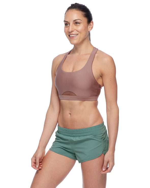 Gefion Eco High-Support Sports Bra - Mocha