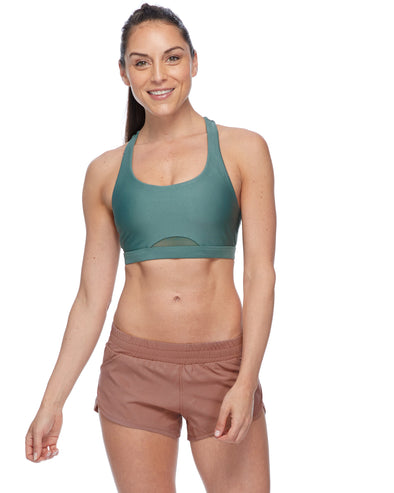 Gefion Eco High-Support Sports Bra - Moss