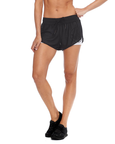 Pluto Loose-Fit Mesh Shorts - Black
