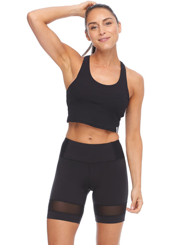 Rush Rib Medium-Support Sports Bra - Black