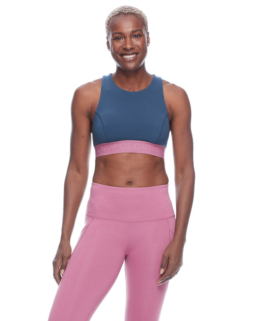 Tune Colorblock Medium-Support Sports Bra - Full Moon