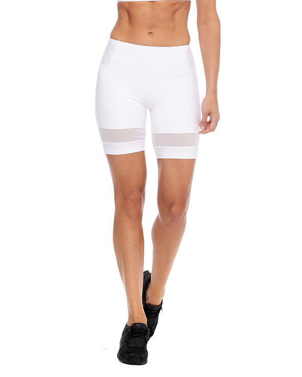 Mercury Pintuck Performance-Fit Shorts - Snow