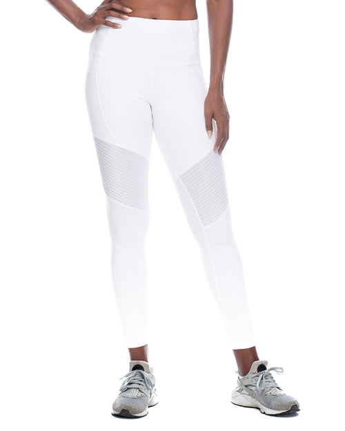 Saturn Pintuck Performance-Fit Legging - Snow