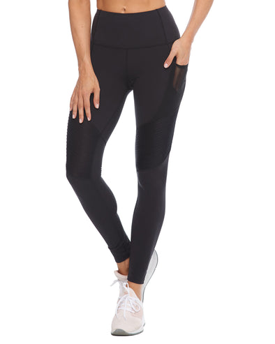 Saturn Pintuck Performance-Fit Legging - Black
