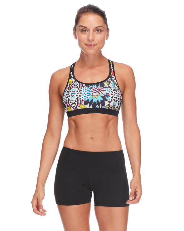 Equalizer Medium-Support Sports Bra in Studio - Black