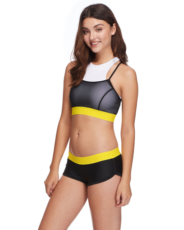 Bombshell Diversion Cross-Over Sports Bra - Snow