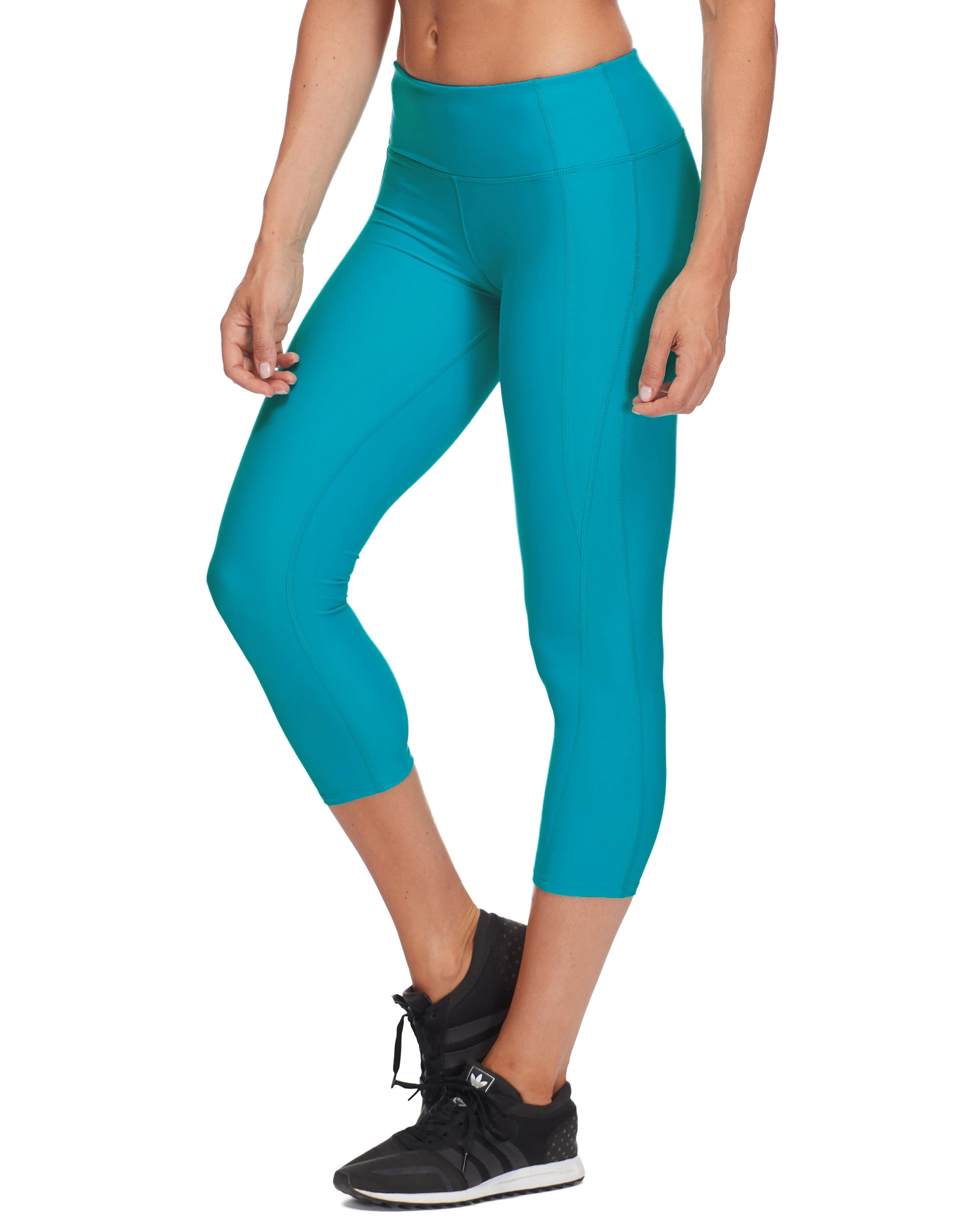 Roam Cross-Over Capri Legging - Peacock