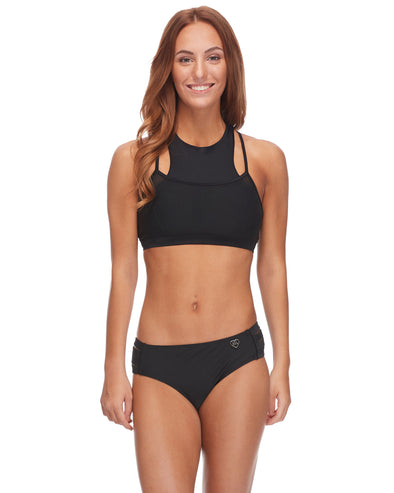 Diversion Cross-Over Sports Bra - Black