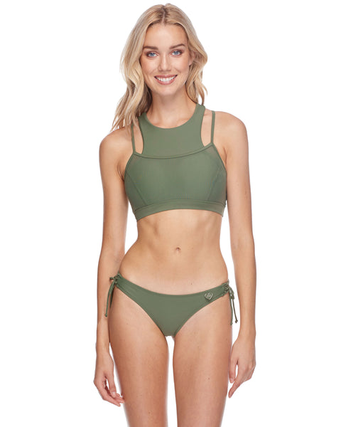 Diversion Cross-Over Sports Bra - Cactus