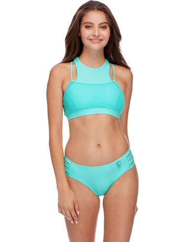 Diversion Cross-Over Sports Bra - Sea Mist