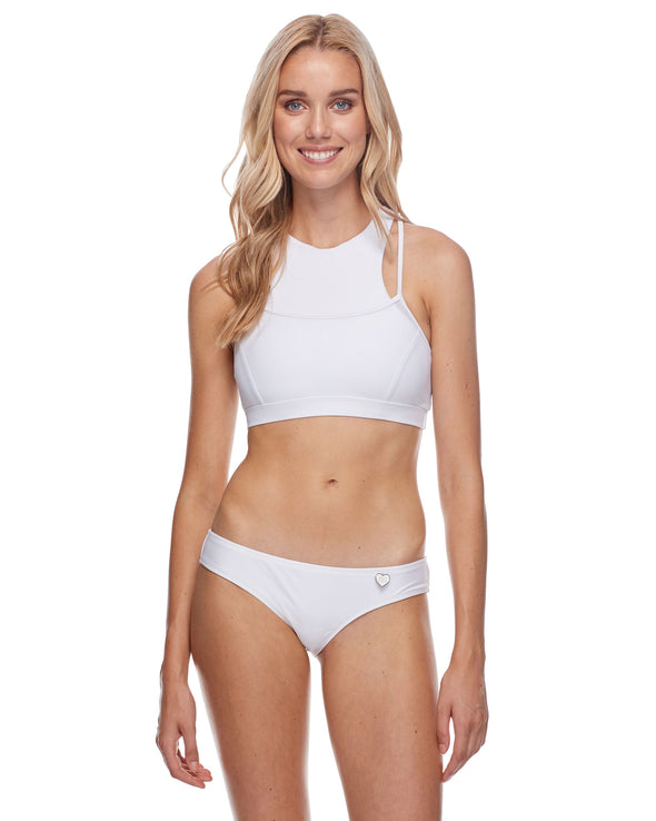 Diversion Cross-Over Sports Bra - Snow