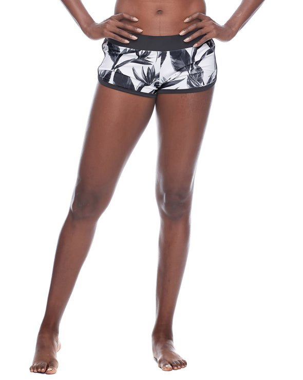 Black and White Pulse Cross-Over Shorts - Black