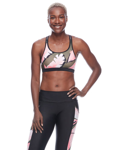 Surface Equalizer Medium-Support Sports Bra - Cactus