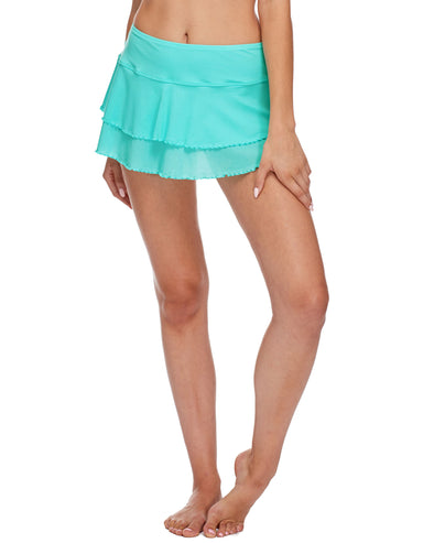 Smoothies Lambada Skirt Cover Up - Sea Mist