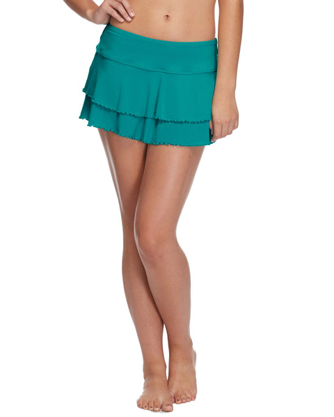 Smoothies Lambada Skirt Cover Up - Peacock