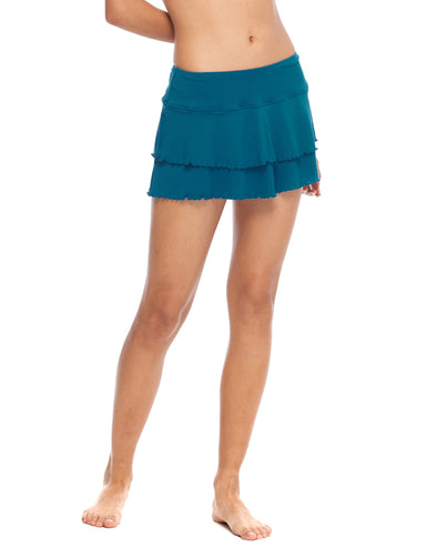 Smoothies Lambada Skirt Cover-Up - Prussian