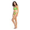 '80s Throwback Tainted Love Swim Top - Neon Green