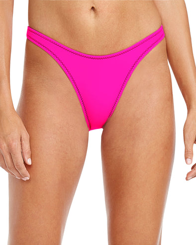 '80s Throwback Straight Up Swim Bottom - Flamingo Pink