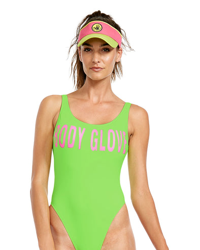 Smoothies The Look One-Piece Swimsuit - Neon Green