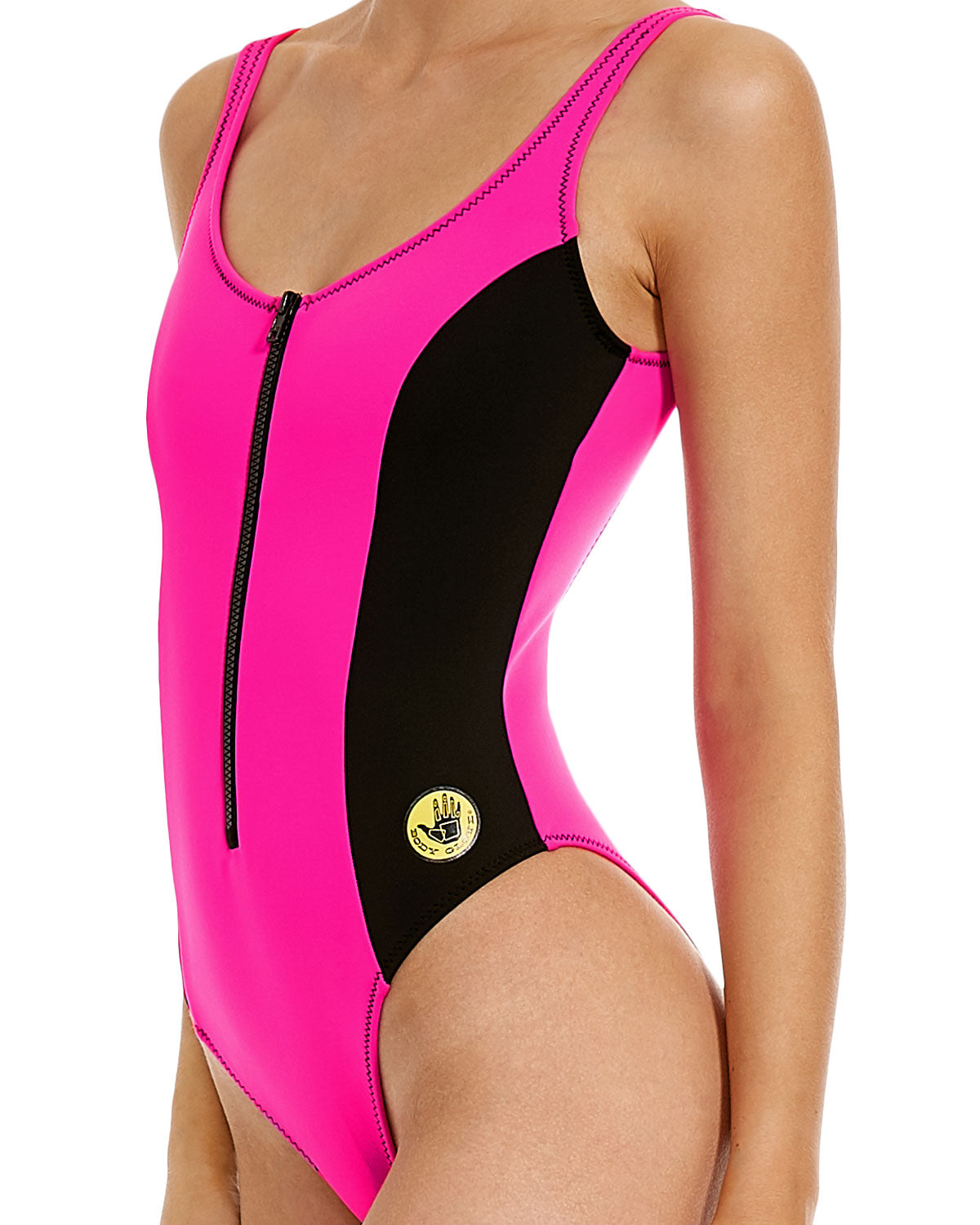 88609aede4486 ... '80s Throwback Time After Time One-Piece Swimsuit - Flamingo Pink. '