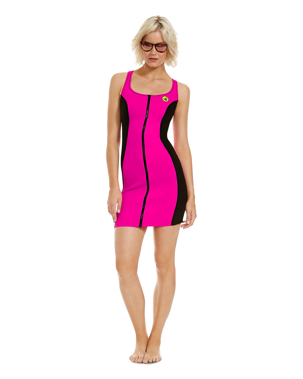 '80s Throwback Simply Irresistible Dress - Flamingo Pink
