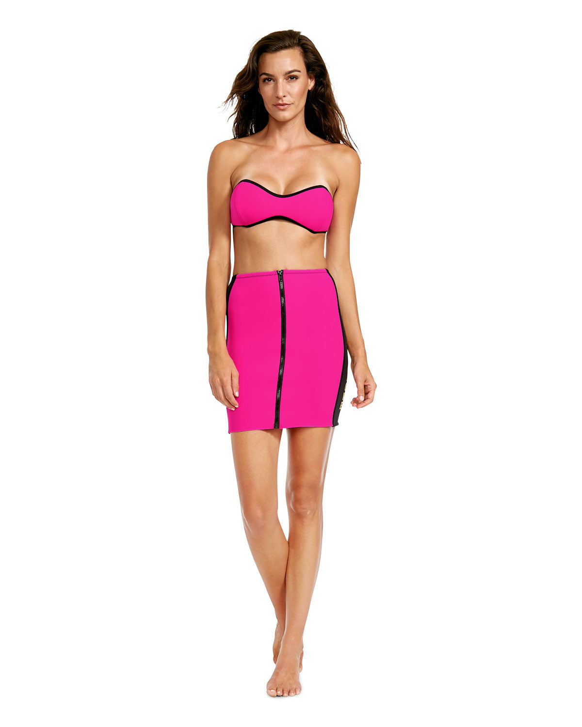 '80s Throwback Need You Tonight Skirt - Flamingo Pink