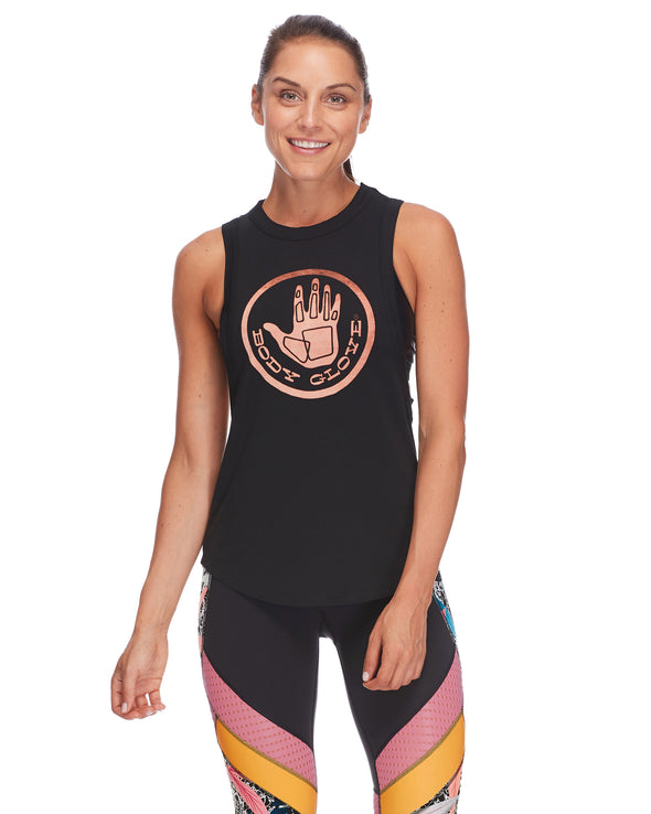 Nora Relaxed-Fit Muscle Tank Top - Black