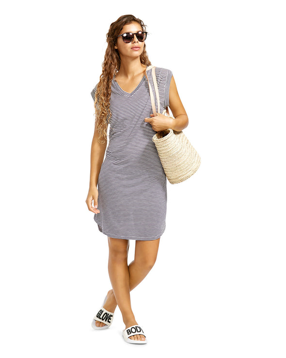 Ella T-Shirt Cover-Up Dress - Pearl