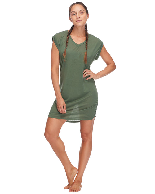 Ella Cover-Up Dress - Cactus