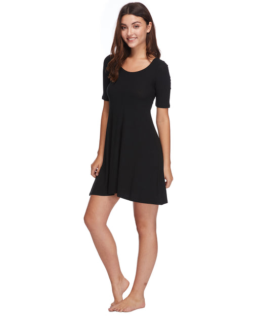 Marcella Cover-Up Dress - Black